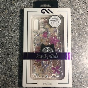 Case-Mate Karate Petals for iPhone X w/kitty ring
